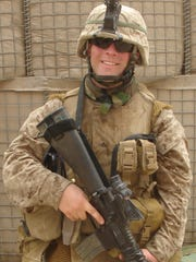 Congressional candidate Sean Barney served in Iraq as a Marine. He was injured in Fallujah in 2006.