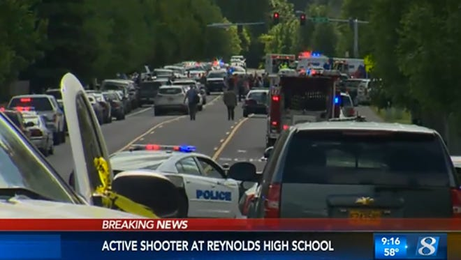 Police responded Tuesday to reports of a shooting at Reynolds High School near Portland, Ore.