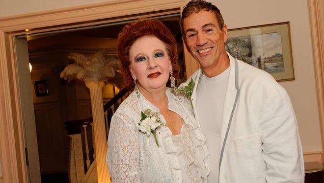 Diane Chevron with Richard Sarkis at 2013 White Party.