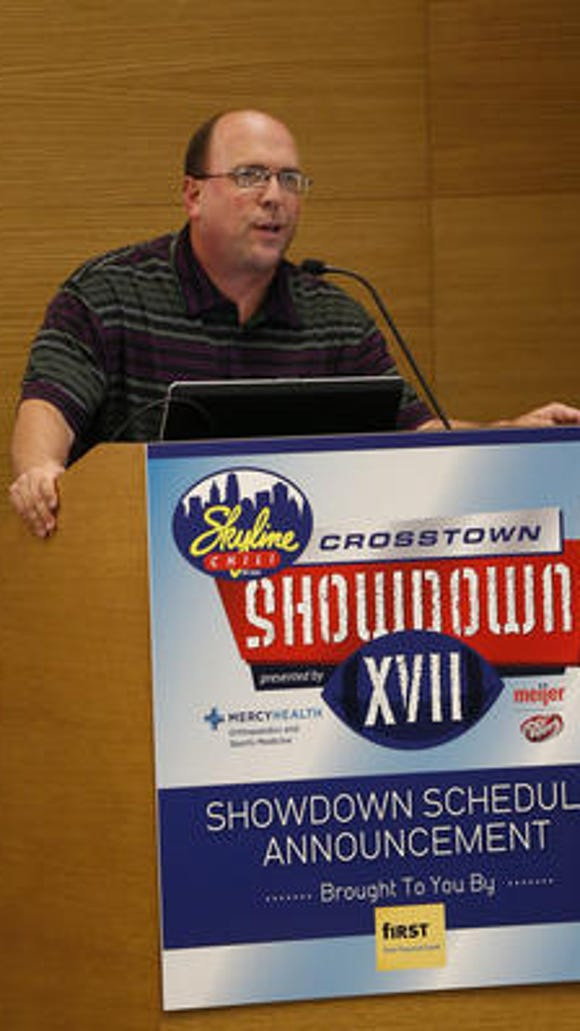 Skyline Chili Crosstown Showdown organizer Tom Gamble will announce the 2015 schedule on May 18.