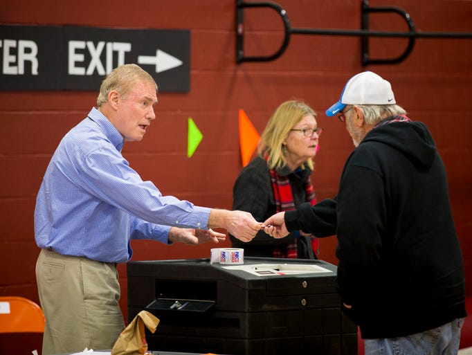 Voters cast their ballots in the New Hampshire primary