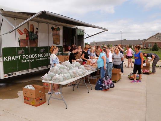 LAF Food Finders Food Bank Mobile Pantry at J&C