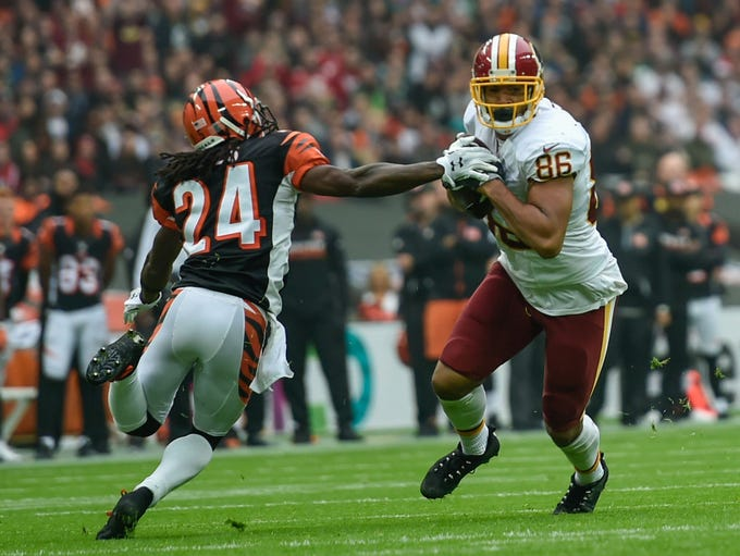 Washington Redskins tight end Jordan Reed (86) catches