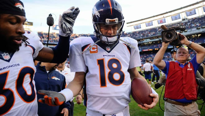 Denver Broncos quarterback Peyton Manning is listed as questionable for Monday night.