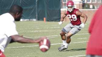 Alabama's Minkah Fitzpatrick is back to his preferred position at cornerback.