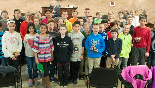 Wappingers students from Fishkill Plains Elementary, Gayhead Elementary, Kinry Road Elementary and Van Wyck Middle School are shown during the math recognition program.