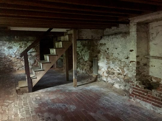 The cellar of the Edgar Allan Poe House in Philadelphia, possible inspiration for 'The Black Cat.'