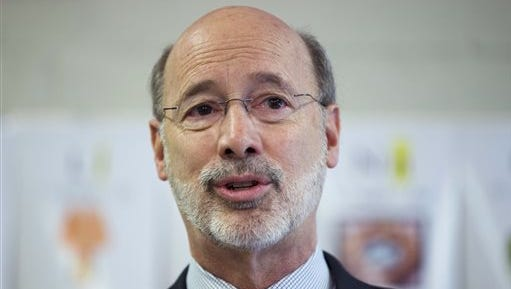 """Gov. Tom Wolf speaks during a news conference at Elementary School  n Thorndale, Pa.  Wolf imposed a moratorium on the death penalty in the state today calling the current system of capital punishment """"error-prone, expensive and anything but infallible."""""""