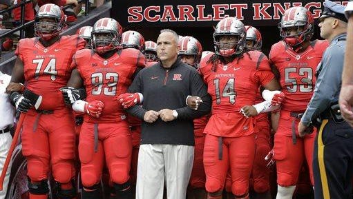Rutgers coach Kyle Flood will be back on the sidelines Saturday after serving a three-game suspension.