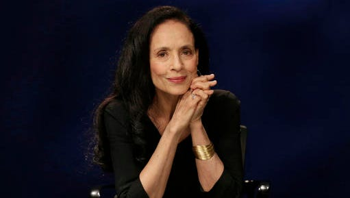 """This Nov. 11, 2016 photo shows Brazilian actress Sonia Braga during an interview about her new film, """"Aquarius,"""" in New York. Braga plays a widow and retired music critic reluctant to sell the seaside apartment that holds her most cherished memories."""