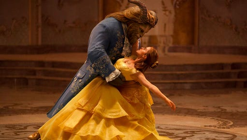 "This image released by Disney shows Dan Stevens as The Beast, left, and Emma Watson as Belle in a live-action adaptation of the animated classic ""Beauty and the Beast."" Disney's film Beauty and the Beast has been pulled from cinemas in Kuwait after the country's censors raised concerns over the film's content. Duaij Al-Khalifa Al-Sabah, a board member at the National Cinema Company that operates 11 of Kuwait's 13 movie theaters, told The Associated Press on Monday, March 20, 2017 a newly edited version of the movie may be back in theaters later this week."