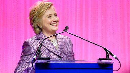 Honoree former Secretary of State Hillary Clinton speaks at the Planned Parenthood 100th Anniversary Gala on Tuesday, May 2, 2017 in New York.