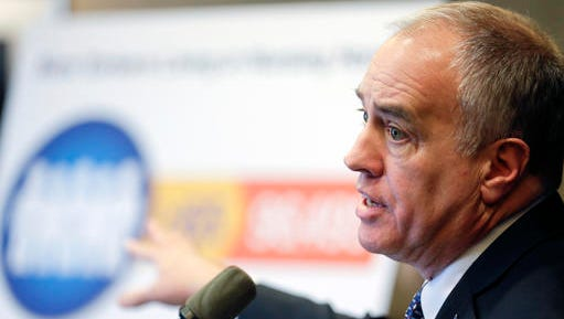 New York State Comptroller Thomas DiNapoli talks about findings of a statewide audit of nursing homes during a news conference on Monday, Feb. 22, 2016, in Albany, N.Y. He announced Thursday, Oct. 12, 2017, a new savings plan for people with disabilities.