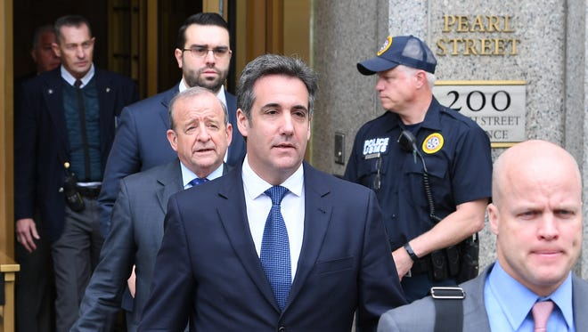 Michael Cohen leaves the U.S. Courthouse in New York  after a scheduled hearing on May 30, 2018.