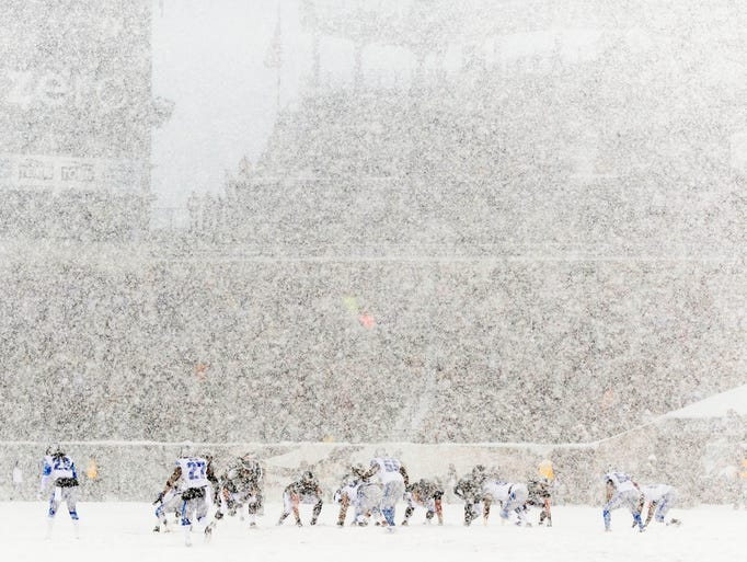 Best Snow Shots From Nfl Week 14
