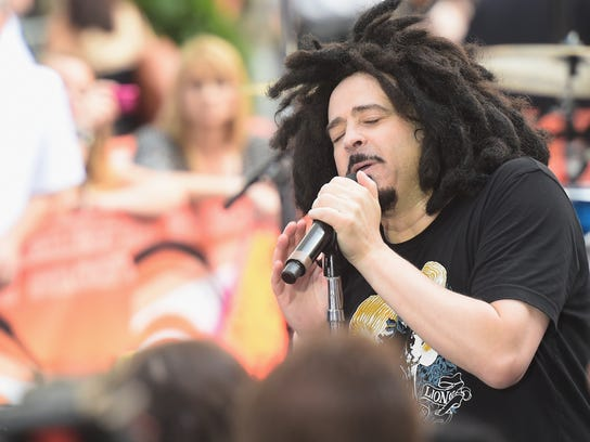 Musician Adam Duritz of Counting Crows performs on