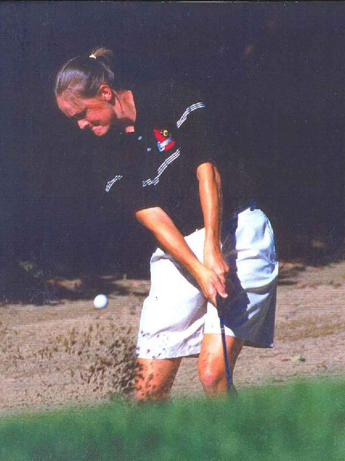 Mowat playing golf at Louisville.