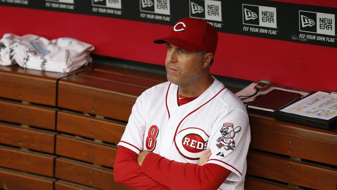 The Cincinnati Reds manager Bryan Price (38) believes the Reds can make a playoff run.