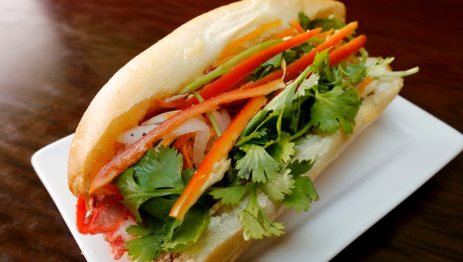 The Vietnamese banh mi sandwich from Pho All Seasons.