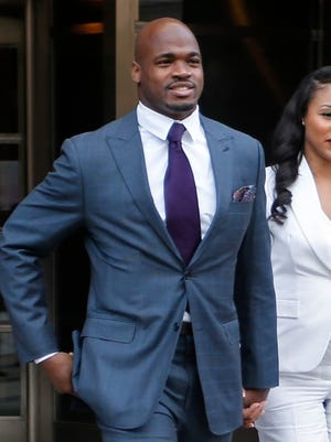 Adrian Peterson can be reinstated from the commissioner's exempt list April 15.