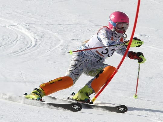 Brighton's Morgan Myers qualified for the state ski