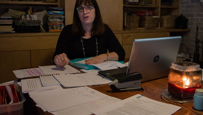 Jacqueline Rogers talks about her challenge to an opt-out of Escambia County's sector plan at her home on Feb. 8, 2018.