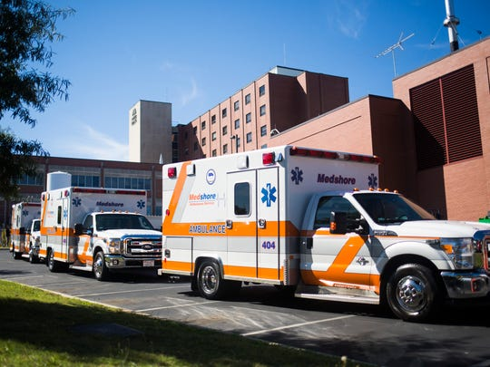 Medshore Ambulance Service, which is based in Anderson, South Carolina, was fined $2,000  Monday, Dec. 16, 2019, for failing to have ambulances available to respond to four medical calls in the city. Other ambulances from out of the area were sent to help the patients, Anderson County officials said.