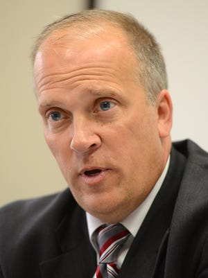 Republican attorney general candidate Brad Schimel is interviewed at the Green Bay Press Gazette on Thursday, Sept. 11, 2014.