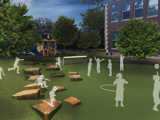 Here's a rendering of the new play yard planned for