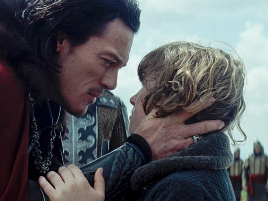 Vlad (Luke Evans) warns his son, Ingeras (Art Parkinson),