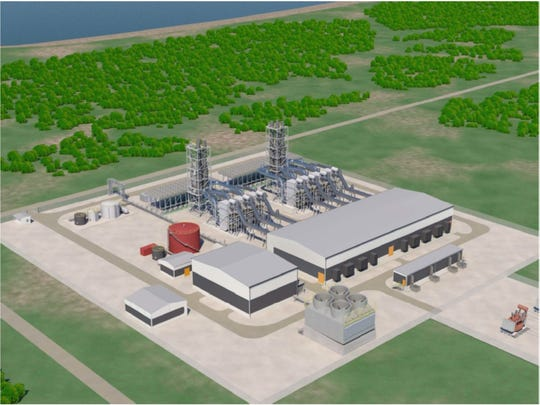This illustration shows what Guam Power Authority's proposed 180-megawatt power plant could look like.