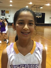 Geckos Alana Salas led her team against the Guam High Panthers with 13 points.