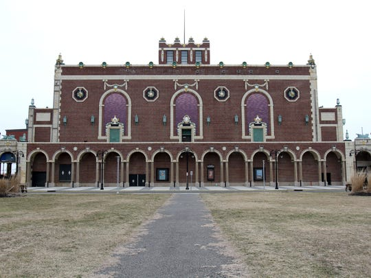 Exterior of Paramount Theatre.