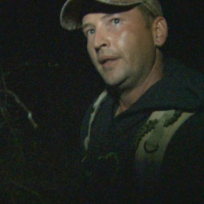 David Lauer during a hunt for Bigfoot