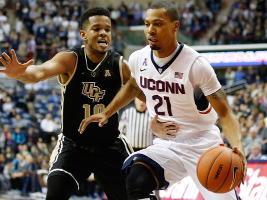 NCAA Basketball: Central Florida at Connecticut