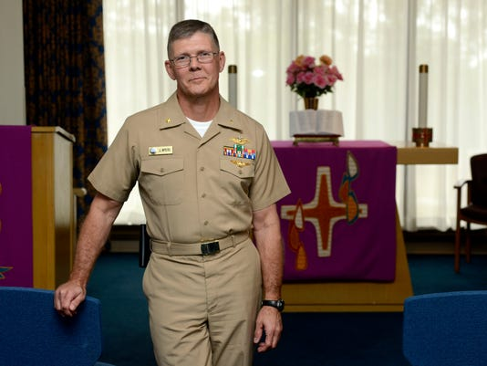 Former Marine Corps helicopter pilot joins the Navy to guide sailors and families through life