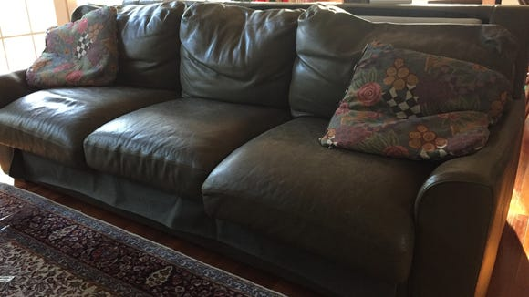 This is a couch, but it's not the one involved in the
