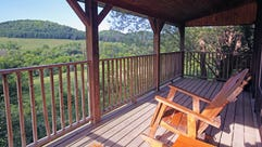 Porches at the Kickapoo Valley Ranch near La Farge