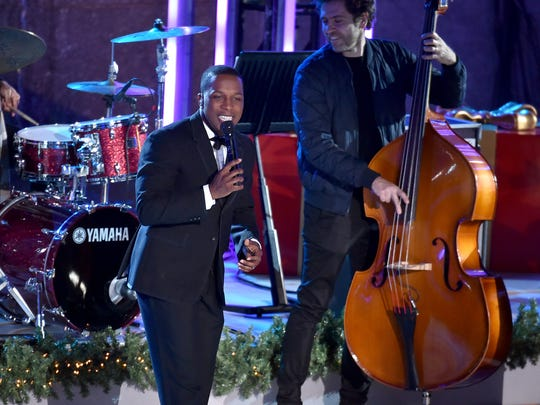 Leslie Odom Jr. performs onstage during the 85th Rockefeller Center Christmas Tree Lighting Ceremony at Rockefeller Center on Nov. 29, 2017 in New York City.