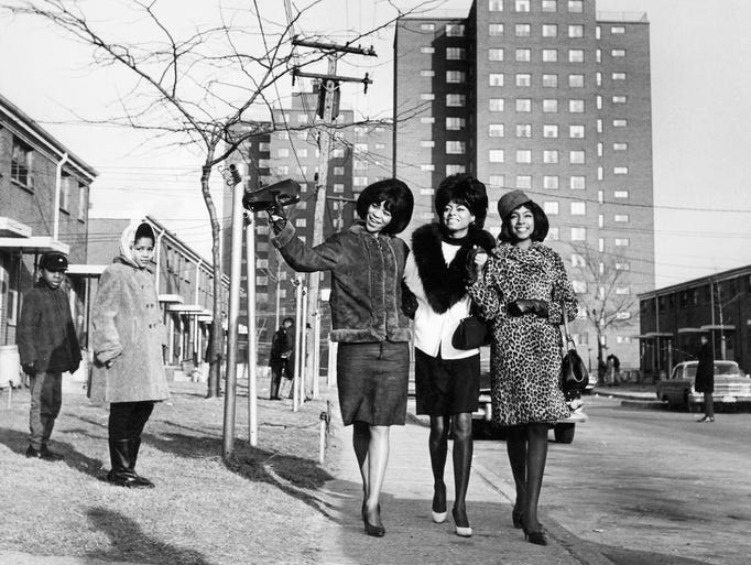 The Supremes, from left,  Florence Ballard, Diana Ross