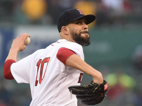 Jun 13, 2019; Boston, MA, USA; Boston Red Sox starting pitcher David Price (10) pitches during the first inning against the Texas Rangers at Fenway Park. Mandatory Credit: Bob DeChiara-USA TODAY Sports