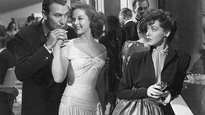 """Lee Bowman, Susan Hayward and Marsha Hunt in """"Smash-Up: The Story of a Woman,"""" 1947, and is included in the TCM tribute."""