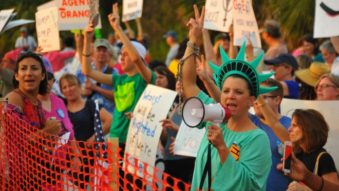Protest in Melbourne, Fla., on Feb. 18, 2017.