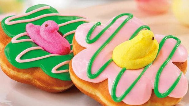 The Easter doughnuts Dunkin' Donuts released this year.