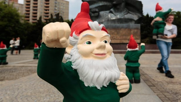 Garden gnomes have become iconic symbols around the world used to sell anything from travel packages to political parties.