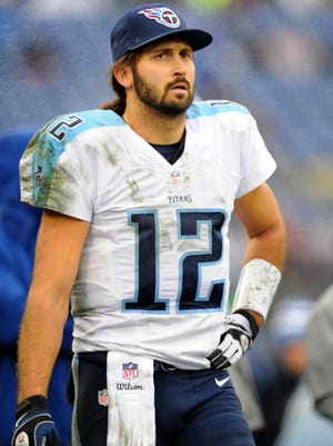 Titans quarterback Charlie Whitehurst  paces the sideline during the fourth quarter against the Colts in December 2014.