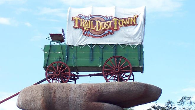 The iconic signage at Trail Dust Town in Tucson.