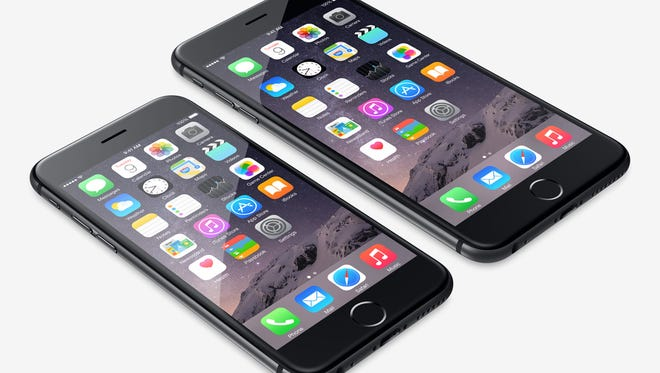 The iPhone 6 and its larger sibling the iPhone 6 Plus.