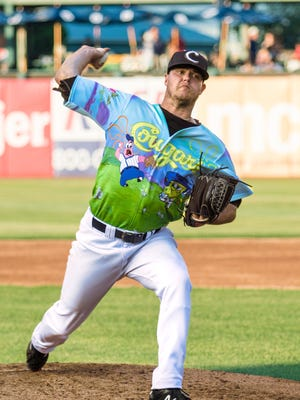 Cole Bartlett, a 2013 graduate of Hagerstown High School, is pitching for the Kane County Cougars, a Class A affiliate of the Arizona Diamondbacks. The Cougars will play a three-game series against the Dayton Dragons in Dayton July 14-16.