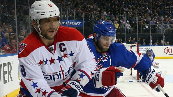 Capitals superstar Alex Ovechkin has been a handful for Dan Girardi and the Rangers through the first two games of their playoff series.